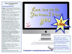 AUSOM Advert - iMac for Sale
