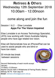 Elise Lonsdale: Apps for the vision impaired display advertisement