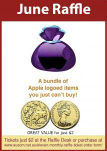 Raffle: $2 could win a bundle of Apple loged items